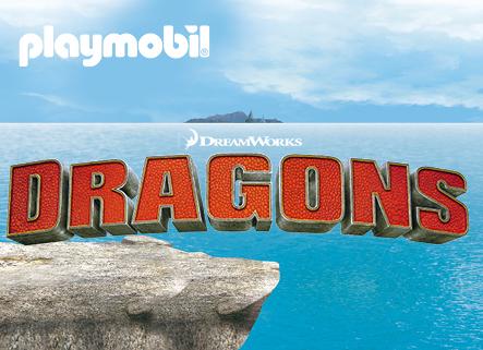 Playmobil Dragons Logo Fundo