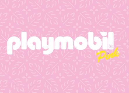Playmobil Pink Logo Fundo
